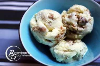 Glace Vanille et pâte de cookie caramel au beurre salé