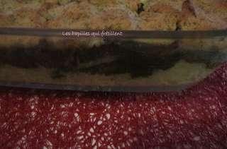 Crumble de saumon épinards