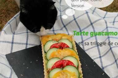 Tarte guacamole et trilogie de couleurs