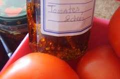 Tomates séchées, conservées à l'huile d'olive