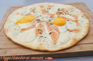 Pizza blanche au saumon