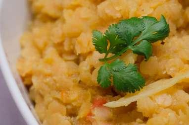 Lentilles corail au curry