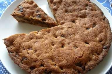 Gâteau cookie ou cookie géant aux noisettes