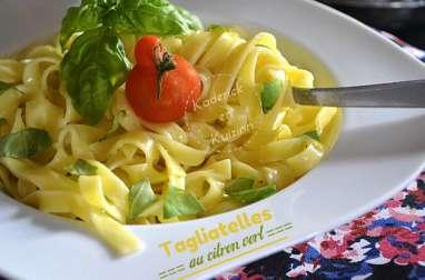 Tagliatelles fraîches au mascarpone et citron vert