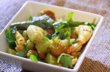 Curry de Crevettes à la Calebasse