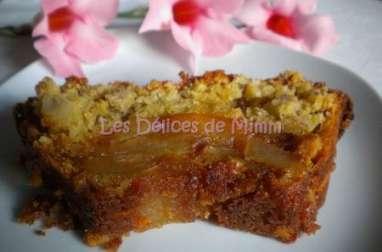 Gâteau aux pommes caramélisées et au muesli
