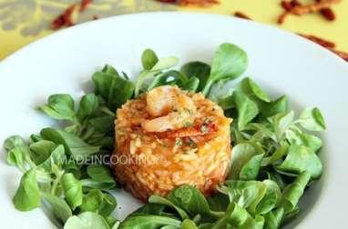 Riz à la tomate et aux crevettes