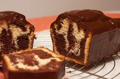 Marbré , nappage chocolat