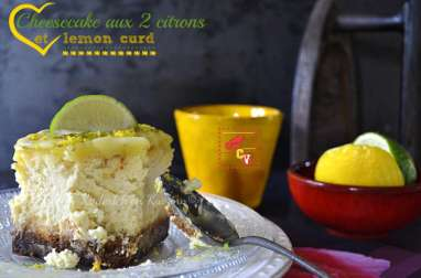 Cheesecake aux 2 citrons et lemon curd