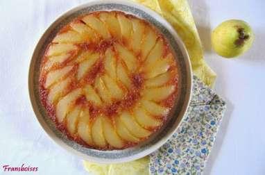 Gâteau renversé aux poires caramélisées