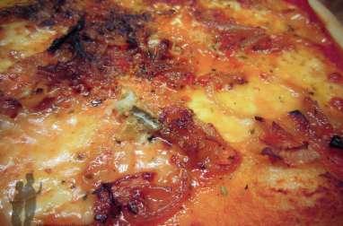 Pizza aux oignons et au gorgonzola