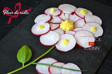 Fleur de radis d'un bouquet qui se mange