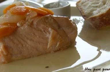 Saumon en marinade de vin blanc
