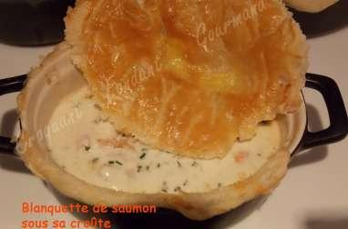 Blanquette de saumon sous sa croûte