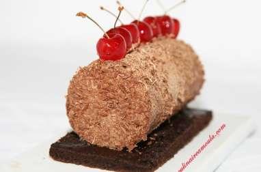 Bûchette au chocolat et aux griottes