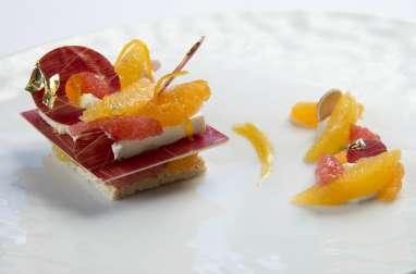 Cheesecake aux agrumes, mascarpone et rice krispie