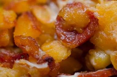 Poêlée de pommes de terre sautées au chorizo et à l'emmental