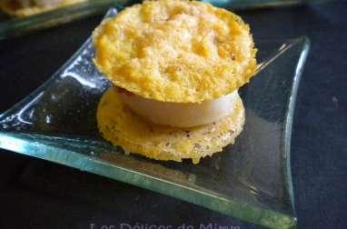 Croustillant de parmesan aux noix de saint-Jacques