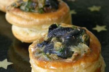Bouchées feuilletés aux escargots