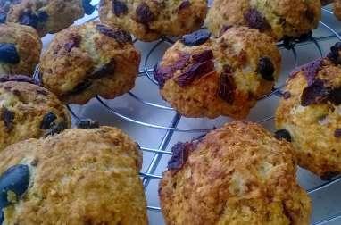 Cookies au son d'avoine, tomates séchées et Cantal