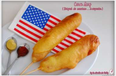 Corn dog et son coleshaw
