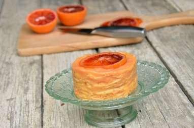 Gâteau de crêpes d'épeautre à l'orange sanguine