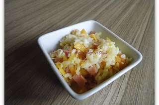 riz au chou et jambon