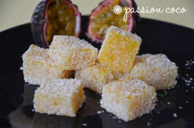 Pâtes de fruits passion coco