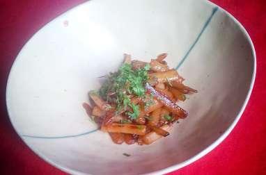 Salsifis caramélisés à la sauce soja