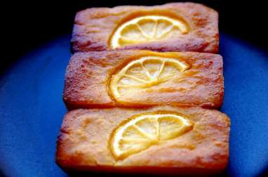 Financier au lemon curd
