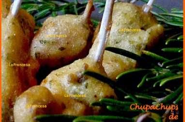 Sucettes de côtelettes de lapin à la moutarde et au romarin