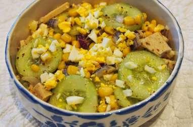 Salade de concombre et thon