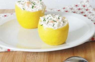 Citron au crabe et à la ricotta