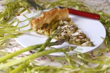 Tarte aux asperges mozzarella et citron confit