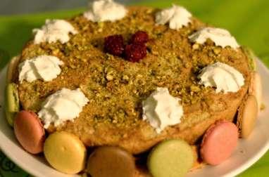 Gâteau pistaches et framboises