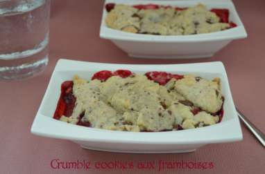 Crumble cookies aux framboises