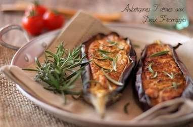 Aubergines Farcies aux Deux Fromages