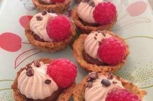 Tartelettes choco coco framboises