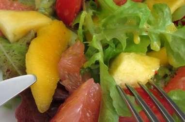 Salade fraîcheur, vinaigrette aux fruits de la passion
