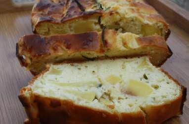 Cake moelleux aux pommes & romarin