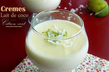 Crèmes au lait de coco et tapioca
