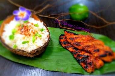 Poulet Huli Huli Poulet à l'hawaienne et son riz au lait de coco