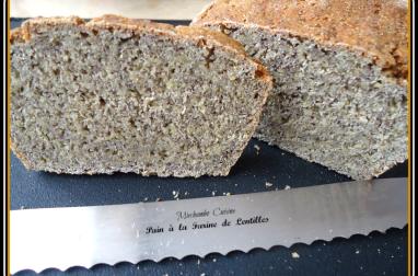 Pain à la farine de lentilles vertes du Puy