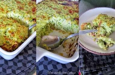 Gratinée de courgette au riz