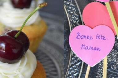 Cupcake aux cerises de la Fête des mères