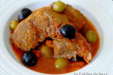Sauté de bœuf aux olives