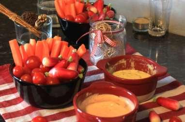 Légumes party et sauce au fromage blanc