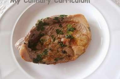 Tranches de gigot d'agneau au curry et à la coriandre