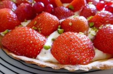 Tarte aux fraises et crème au mascarpone