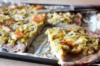Pizza aux poireaux et au haddock